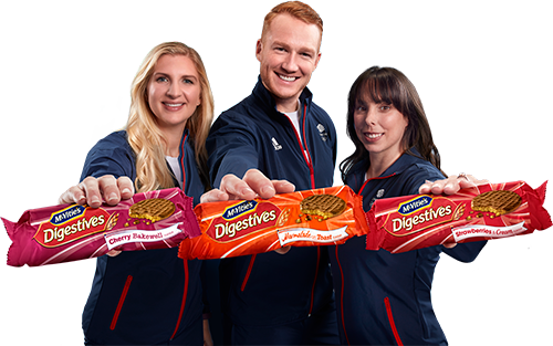 people holding mcvities